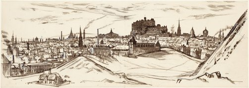An image of Edinburgh from Arthur's seat by John D. Moore