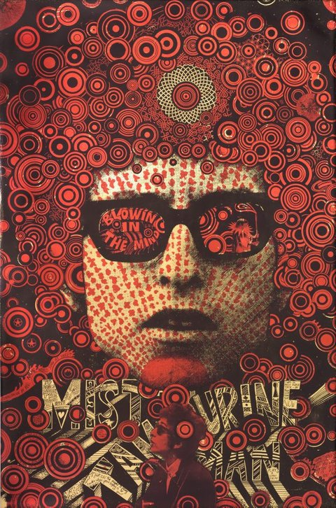 Mister Tambourine Man, (1967) by Martin Sharp