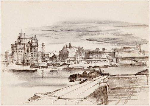 An image of The Thames, London by John D. Moore