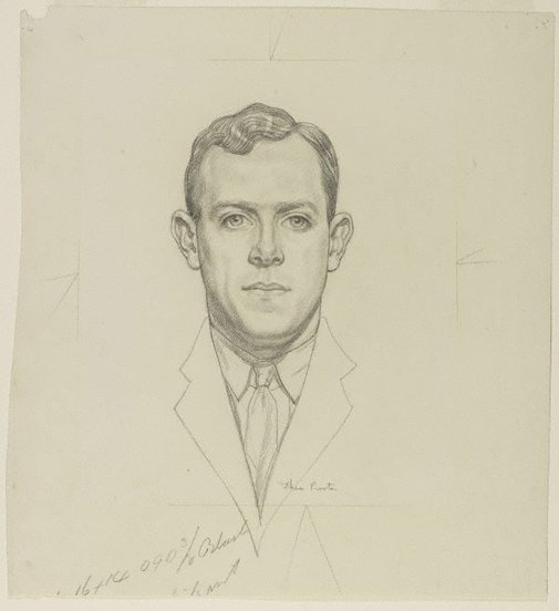 An image of Portrait of Richard Smart by Thea Proctor