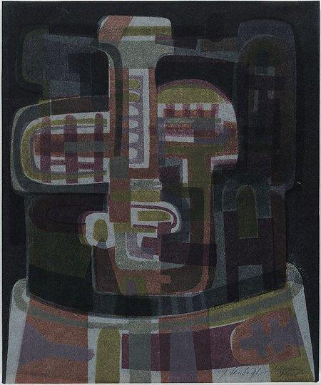 AGNSW collection Jan Senbergs Head (1963) DA20.1964