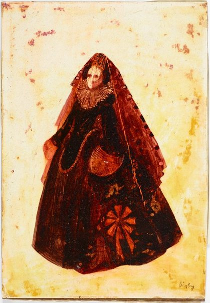 An image of Donna Anna costume design for 'Don Giovanni' by Desmond Digby