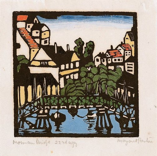 An image of Wooden bridge, Mosman by Margaret Preston
