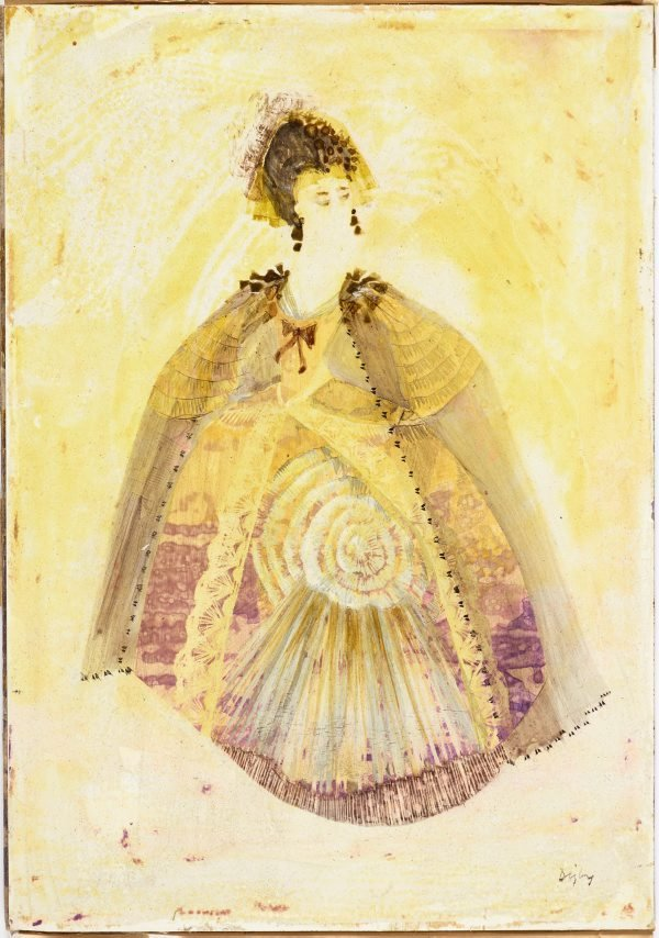 An image of The Feldmarschallin costume design for 'Der Rosenkavalier'