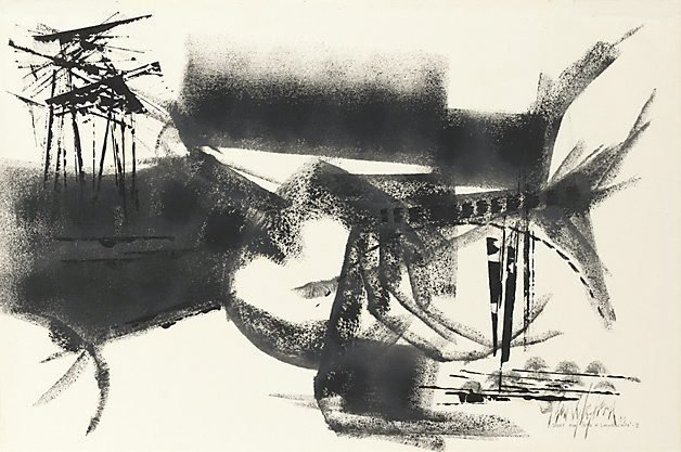An image of Study for 'Into a landscape' II, Ooldea