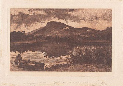 An image of River scene: on the Hawkesbury? by Livingston Hopkins