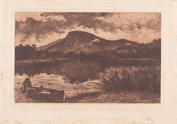An image of River scene: on the Hawkesbury?