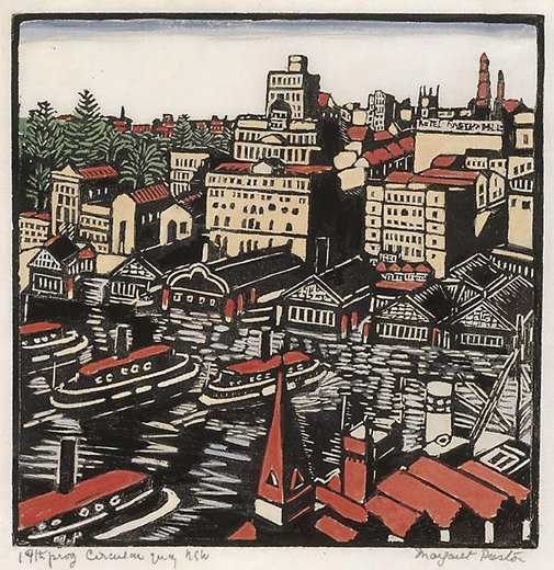 An image of Circular Quay by Margaret Preston