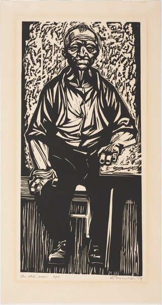 AGNSW collection Noel Counihan An old man (1959) DA29.1959