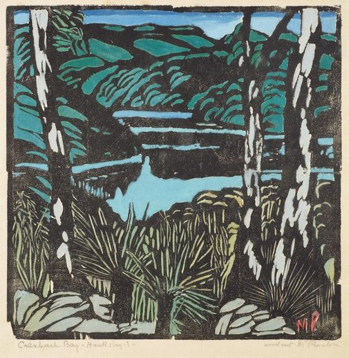 An image of Cowan Creek, from Berowra by Margaret Preston