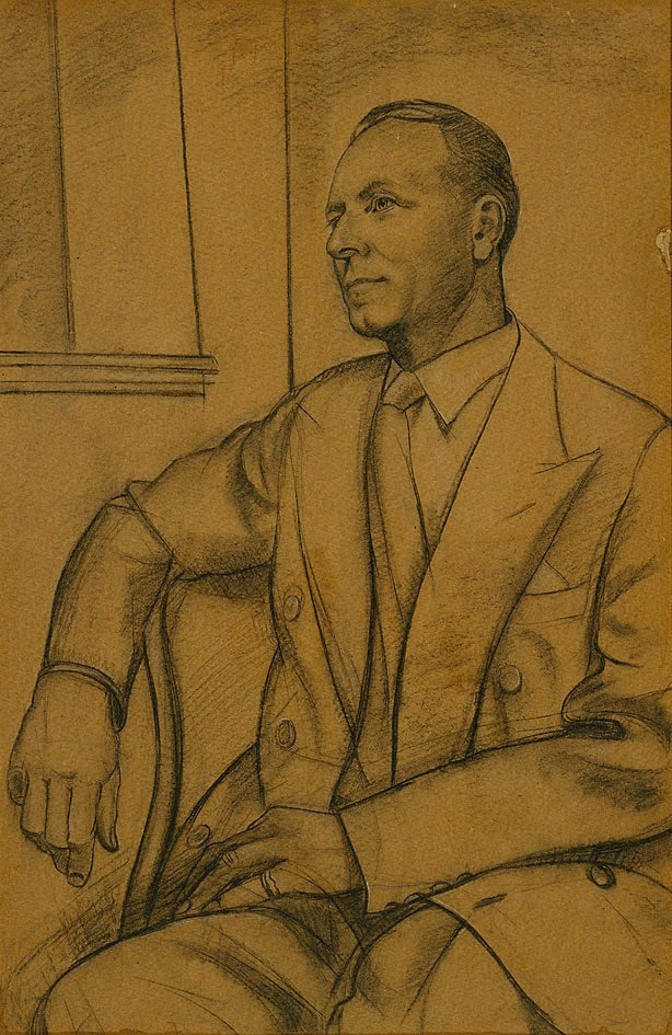 An image of Study for Portrait of Ernest Hollis