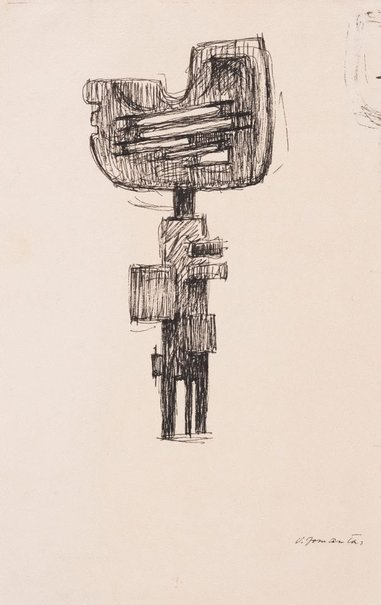 "An image of Study related to the sculpture of 1963 ""Guardant"" by Vincas Jomantas"