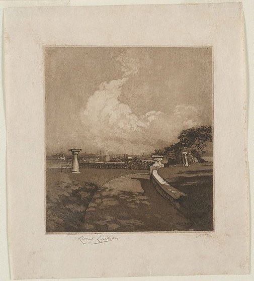 An image of Walk at Admiralty House by Lionel Lindsay