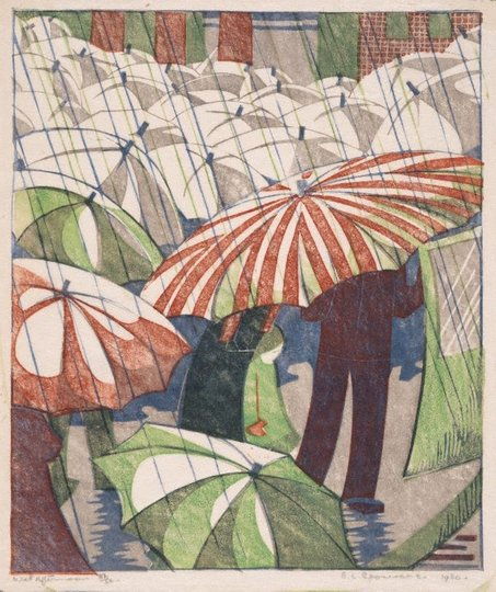 AGNSW collection Ethel Spowers Wet afternoon 1929-1930