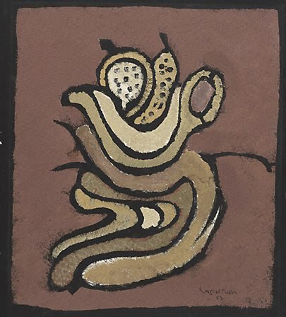 An image of Fruit and bowl by Margaret Preston