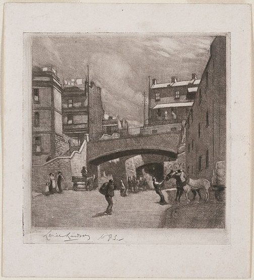 An image of The Argyle Cut, Sydney by Lionel Lindsay