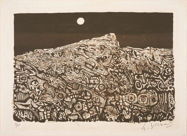 AGNSW collection Udo Sellbach Landscape (1963) DA4.1965