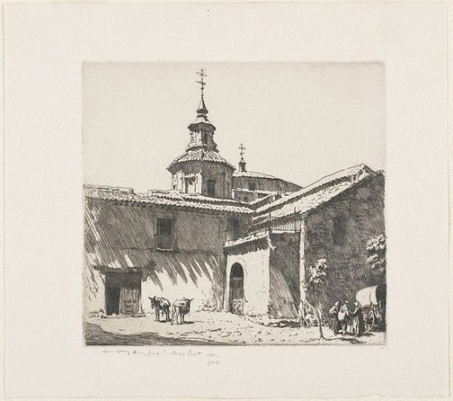 An image of San Andres, Toledo by Lionel Lindsay