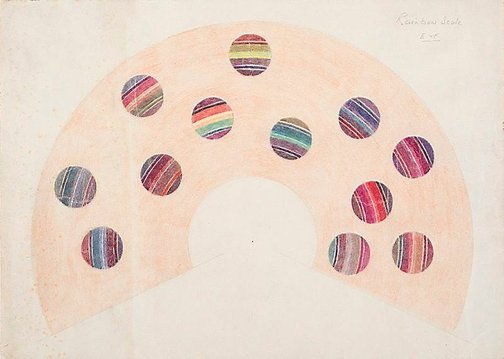 An image of Rainbow scale E & F by Roy de Maistre