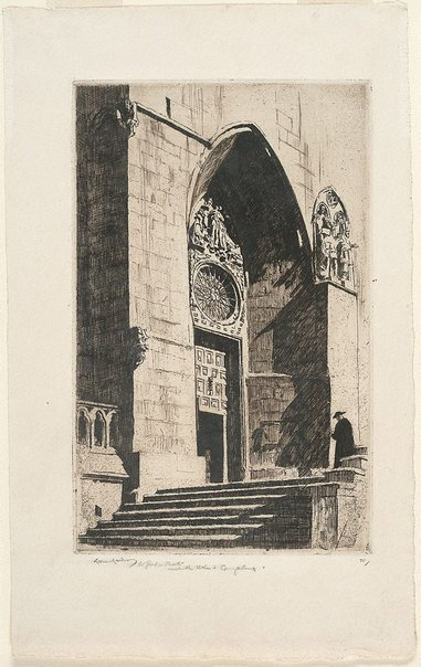 An image of A doorway, Burgos Cathedral by Lionel Lindsay