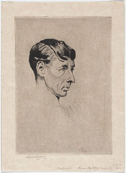 An image of Norman Lindsay by Lionel Lindsay
