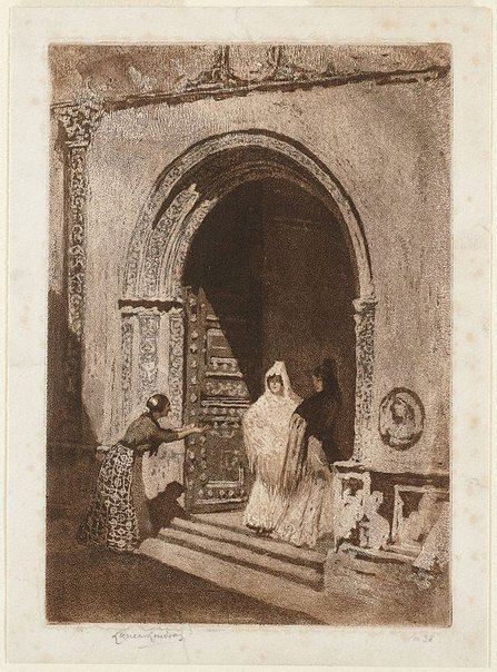 An image of Ladies of Spain by Lionel Lindsay