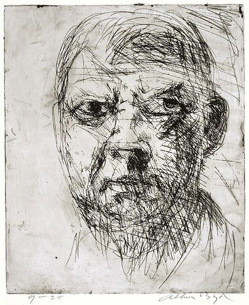 An image of Self portrait by Arthur Boyd