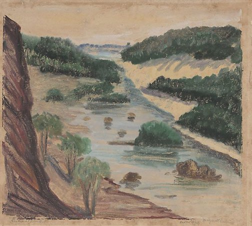 An image of Leichhardt River, North Queensland by Margaret Preston