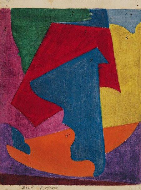 An image of Blue E Minor by Roy de Maistre