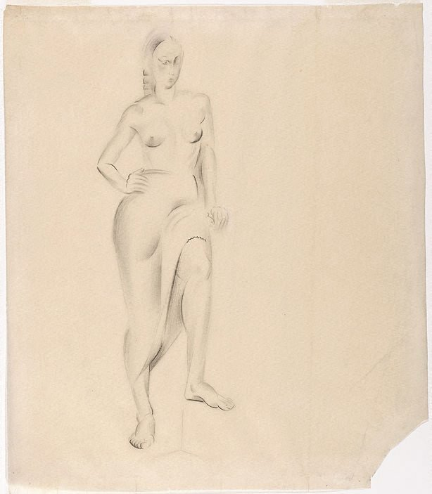 An image of Standing female figure