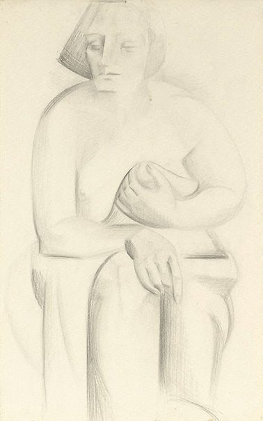 An image of Seated female figure, study for sculpture by Rah Fizelle