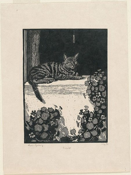 An image of Siesta by Lionel Lindsay