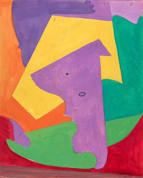An image of (Untitled Violet Key) by Roy de Maistre