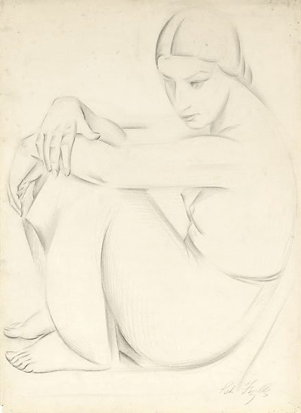 An image of Seated female figure, side-view by Rah Fizelle