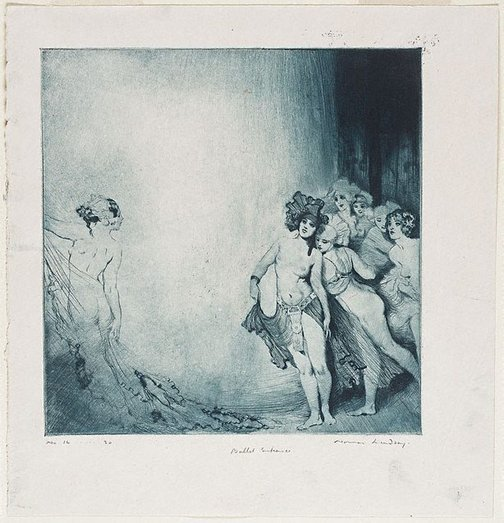 An image of Ballet entrance by Norman Lindsay