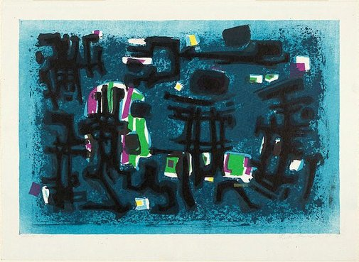 An image of Figures in the night by Ruth Faerber
