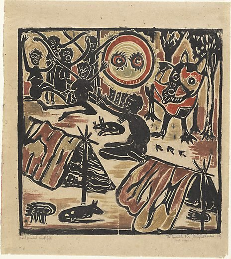 An image of Australian legend, number 2: The terrible story by Margaret Preston