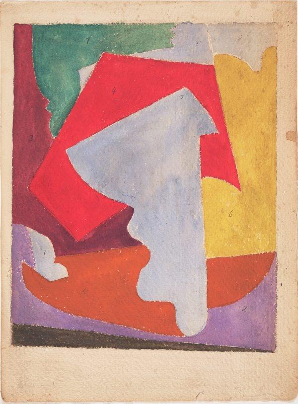 An image of recto: Blue E verso: (sketch)