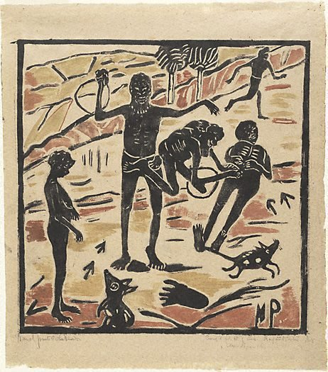 An image of Australian legend, number 5: End of the love story, Curing and flight of love by Margaret Preston