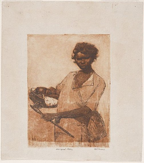 An image of Aboriginal study by BE Minns