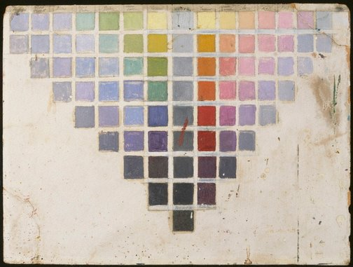 An image of Colour chart by Roy de Maistre