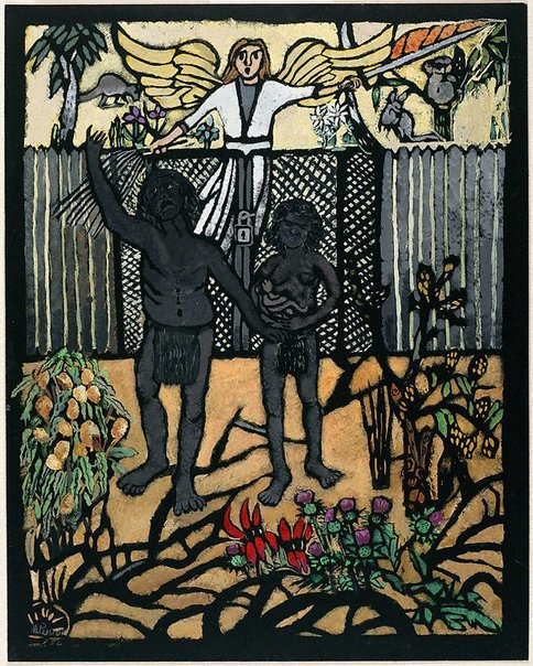An image of The expulsion by Margaret Preston