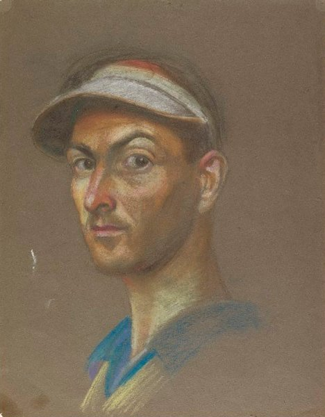 An image of Self portrait, head study by Eric Wilson