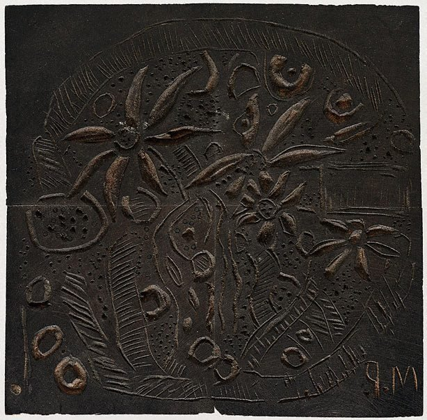 An image of Woodblock for 'Study in textures'