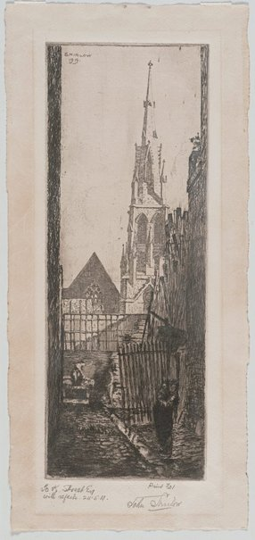 An image of Spire of Wesley Church by John Shirlow
