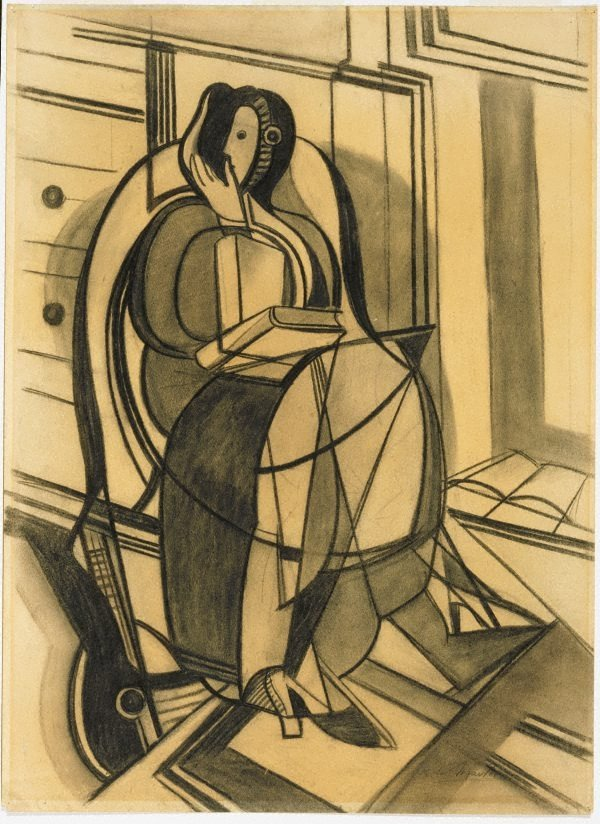 An image of recto: Seated figure (Margaret McLeod) verso: (sketch of a seated female figure)