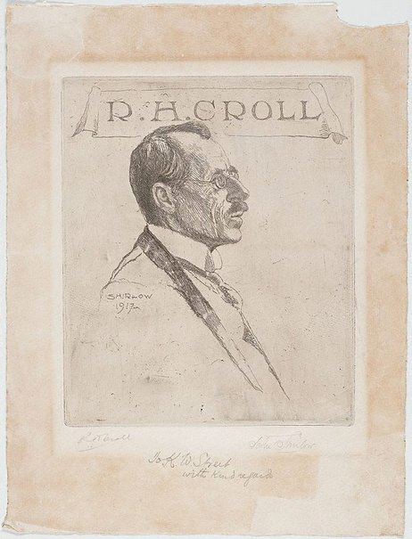 An image of Portrait of R.H. Croll by John Shirlow