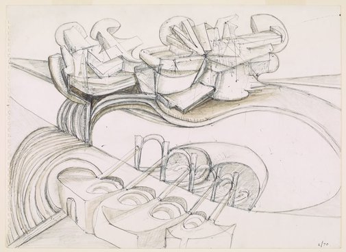 An image of Drawing, February 1970 by Robert Klippel