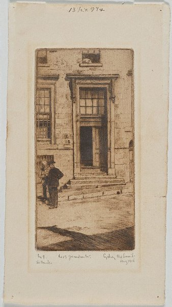 An image of No 15 Jamieson St by Sydney Ure Smith