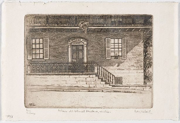 An image of Entrance, old Colonial residence, Windsor